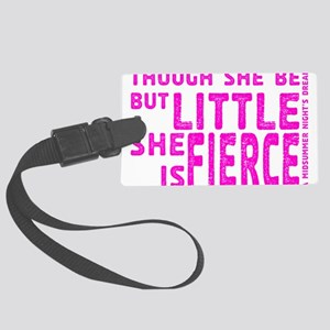 She is Fierce - Stamped Pink Large Luggage Tag
