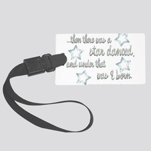 A Star Danced Large Luggage Tag