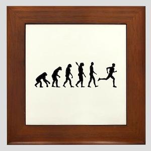 Evolution running marathon Framed Tile