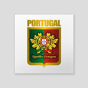 """Portuguese Gold Square Sticker 3"""" x 3"""""""