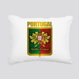 Portuguese Gold Rectangular Canvas Pillow