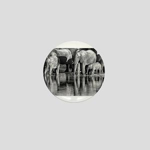 Elephant Reflections Mini Button