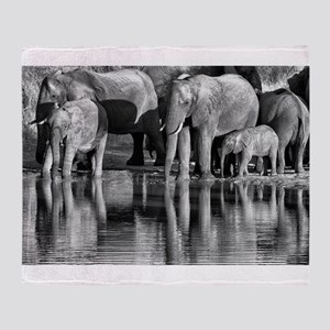Elephant Reflections Throw Blanket
