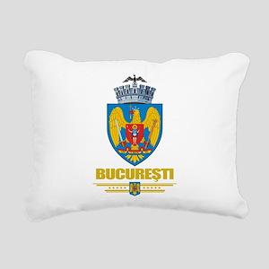 Bucharest COA (Flag 10) Rectangular Canvas Pil