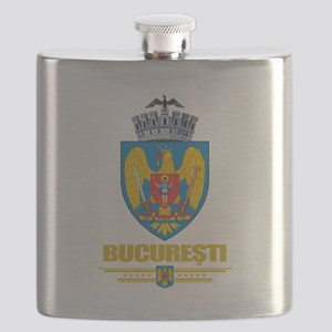 Bucharest COA (Flag 10) Flask