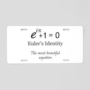 Beautiful Eulers Identity Aluminum License Plate