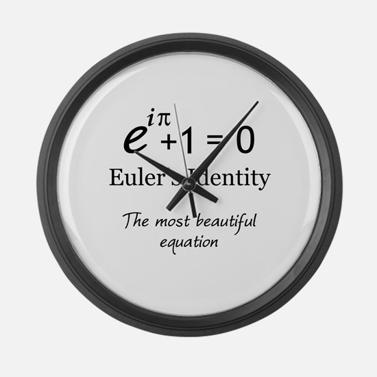 Beautiful Eulers Identity Large Wall Clock