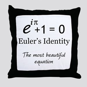 Beautiful Eulers Identity Throw Pillow