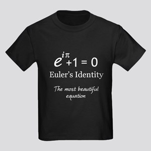 Beautiful Eulers Identity Kids Dark T-Shirt