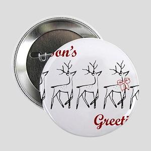 "Greetings Reindeer 2.25"" Button"