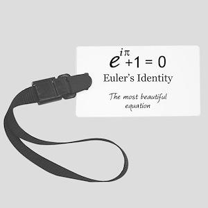 Beautiful Eulers Identity Large Luggage Tag