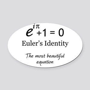 Beautiful Eulers Identity Oval Car Magnet