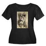 The Pose Women's Plus Size Scoop Neck Dark T-Shirt