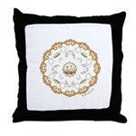 Lotus Mandala Throw Pillow