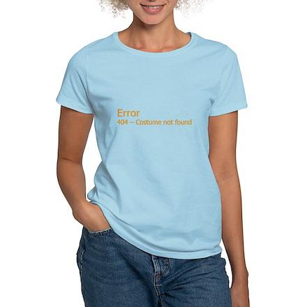 Costume Not Found Womens Light T-Shirt