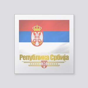"Serbia (Flag 10) Square Sticker 3"" x 3"""