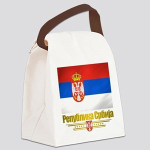 Serbia (Flag 10) Canvas Lunch Bag