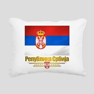 Serbia (Flag 10) Rectangular Canvas Pillow