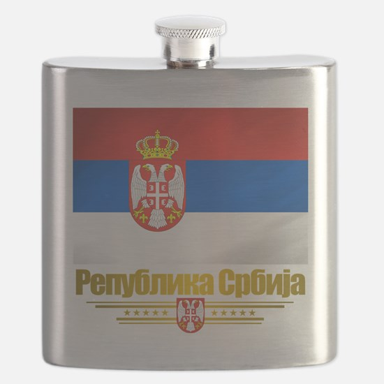 Serbia (Flag 10).png Flask
