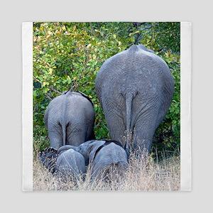 Elephant Roadblock Queen Duvet