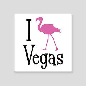 "I Love Vegas Square Sticker 3"" x 3"""