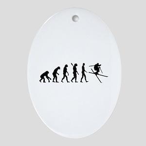 Evolution Ski Ornament (Oval)