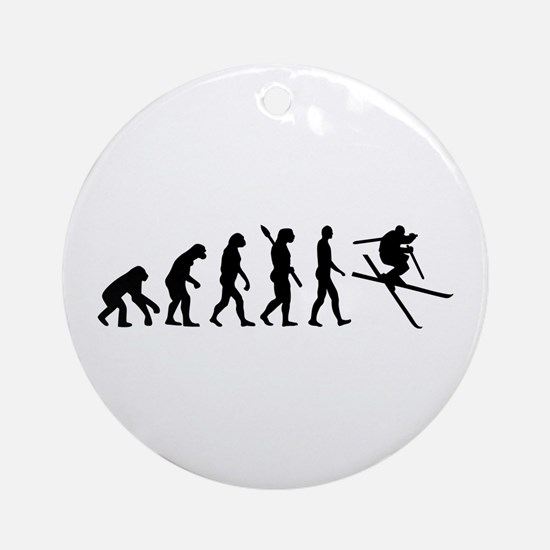 Evolution Ski Ornament (Round)