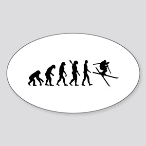 Evolution Ski Sticker (Oval)