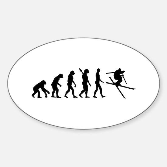 Evolution Ski Sticker (Oval)