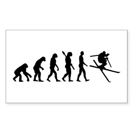 Evolution Ski Sticker (Rectangle)
