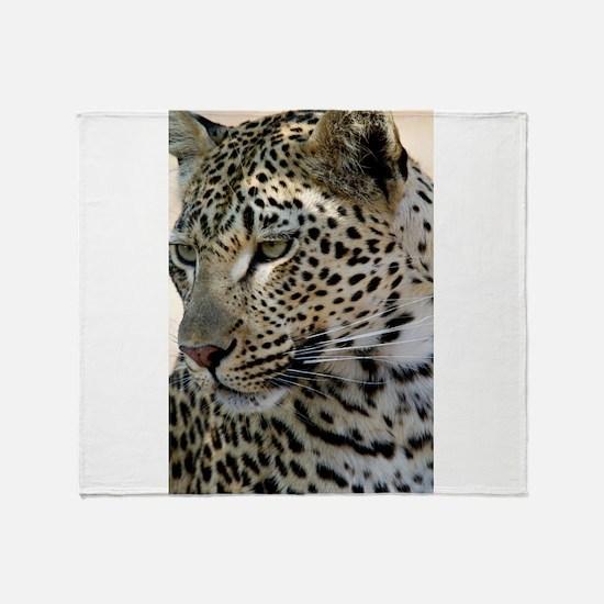 Leopard Profile Throw Blanket