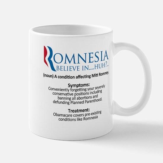 definition of romnesia mitt romney Mug