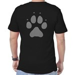 Wolf Paw Print Men's Fitted T-Shirt (dark)