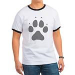 Wolf Paw Print Ringer T