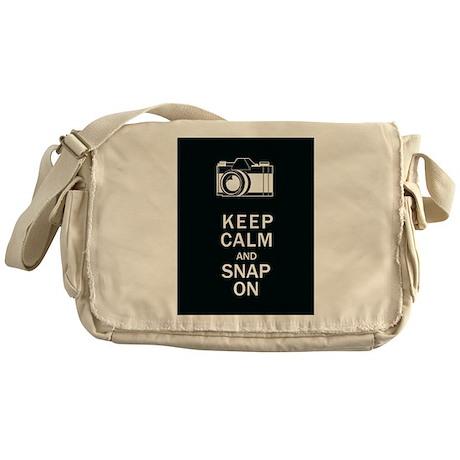 Keep Calm And Snap On Messenger Bag