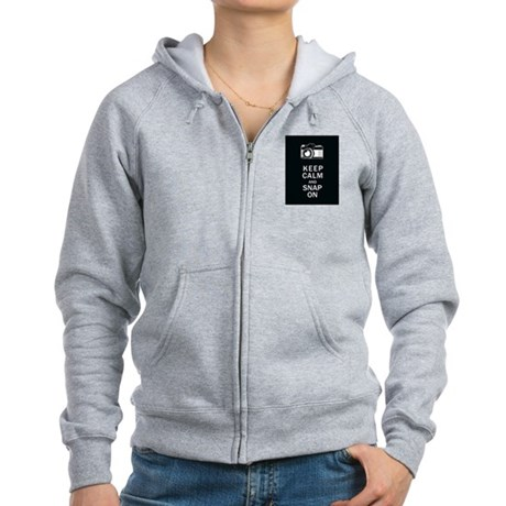 Keep Calm And Snap On Women's Zip Hoodie