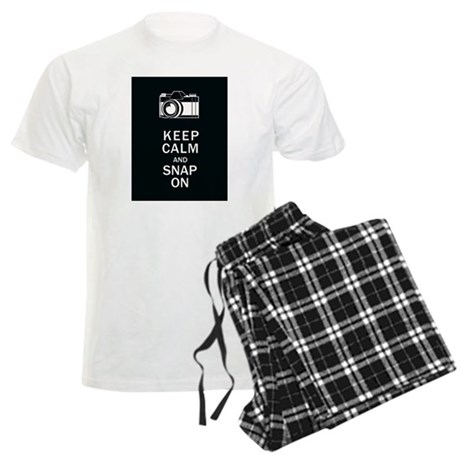 Keep Calm And Snap On Men's Light Pajamas