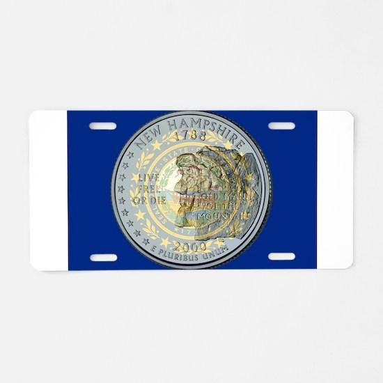 New Hampshire Quarter 2000 Aluminum License Plate