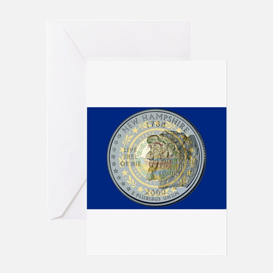 New Hampshire Quarter 2000 Greeting Cards