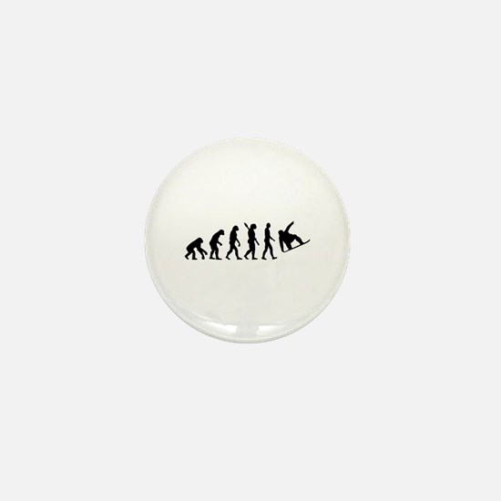 Evolution Snowboard Mini Button