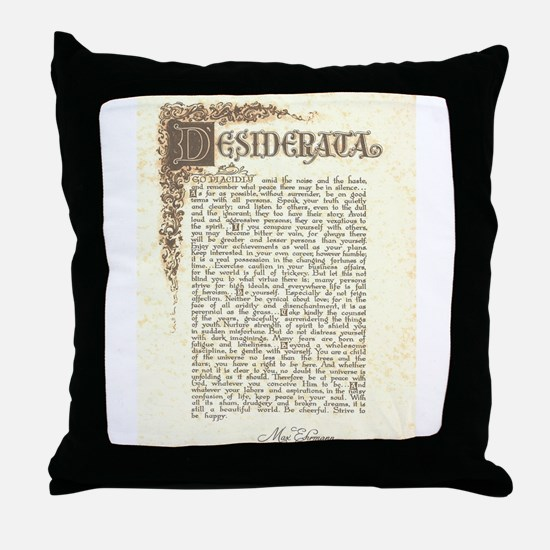 desifloralscrollantiqueScan.jpeg Throw Pillow