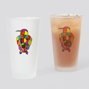 Pretty Colored Doxie Drinking Glass
