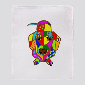 Pretty Colored Doxie Throw Blanket