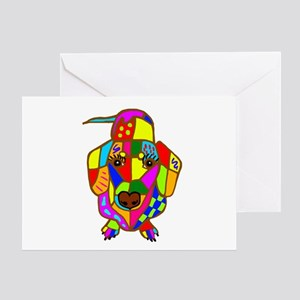 Pretty Colored Doxie Greeting Card
