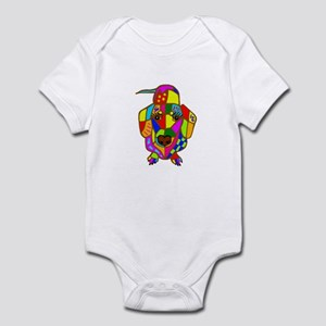 Pretty Colored Doxie Infant Bodysuit