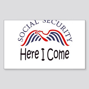 SS Here I Come Sticker (Rectangle 50 pk)