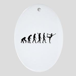 Evolution Yoga Ornament (Oval)