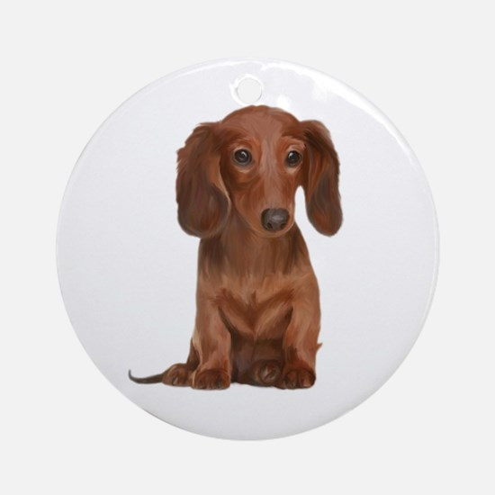 Painted Long Haired Red Ornament (Round)
