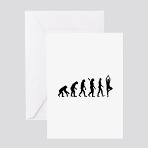 Evolution Yoga Greeting Card