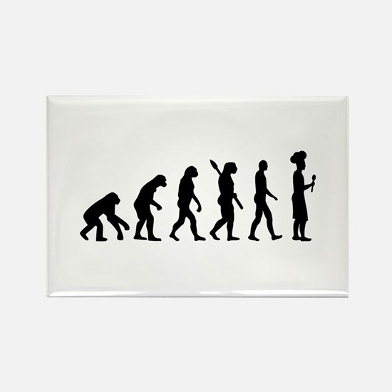 Evolution cook chef Rectangle Magnet